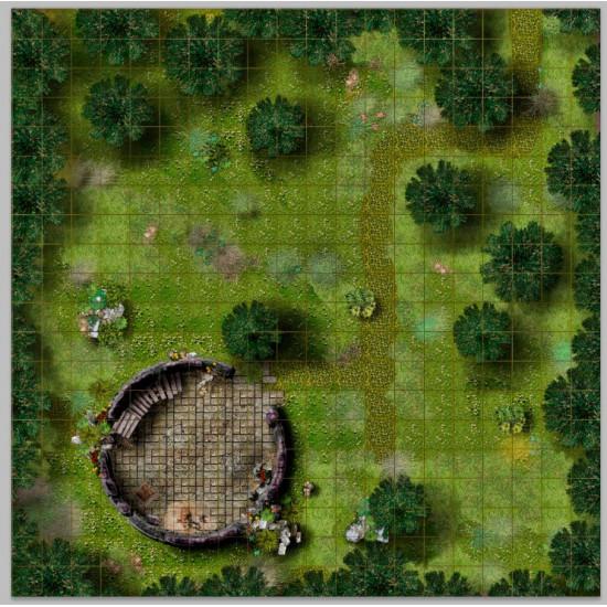 Печать матов для ролевых игр на баннере и холсте