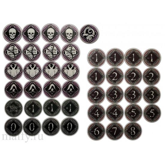 Ужас Аркхэма ЖКИ - Альтернативные жетоны хаоса. Arkham Horror LCG alternative chaos tokens